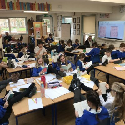 Class 5, extremely relaxed reading...